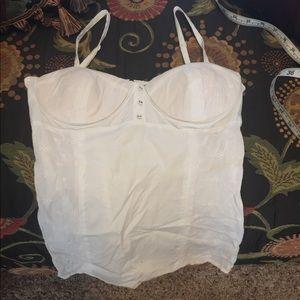 White bustier corset top